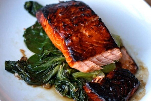 Atlantic Salmon with Asian vegetables