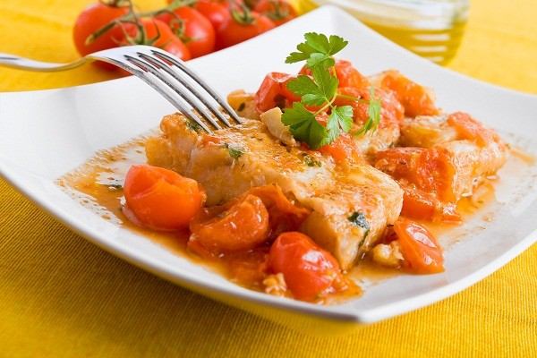 Baked Barramundi with Tomato and Basil