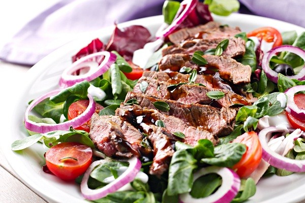 Baked Lamb with mixed salad and Tatziki