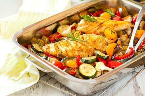 Chicken Breast with Roast Vegetables