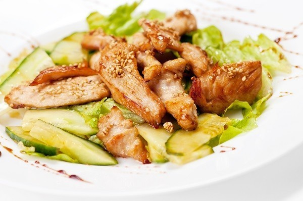 Five Spice Chicken and Cucumber Salad