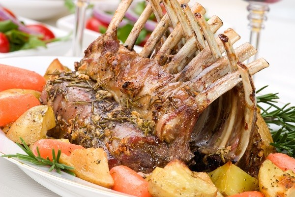 Lamb Rack with Mint Sauce