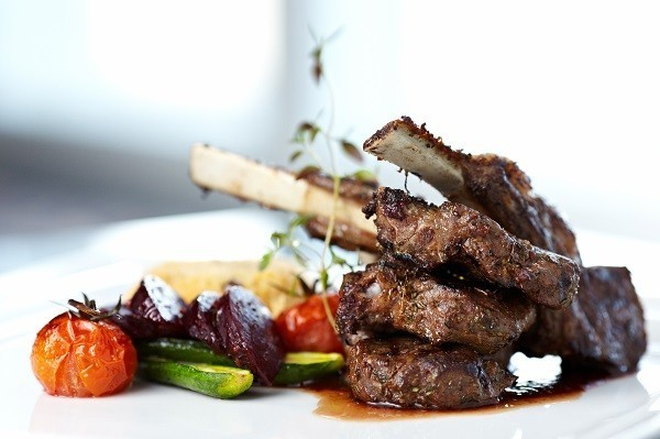 Lamb Rack with Roasted Vegetables