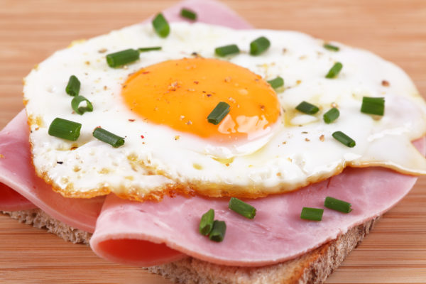 Ham & egg on toast