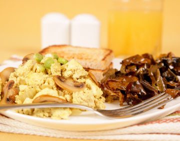 Scrambled Tofu with Herbs and Mushroom
