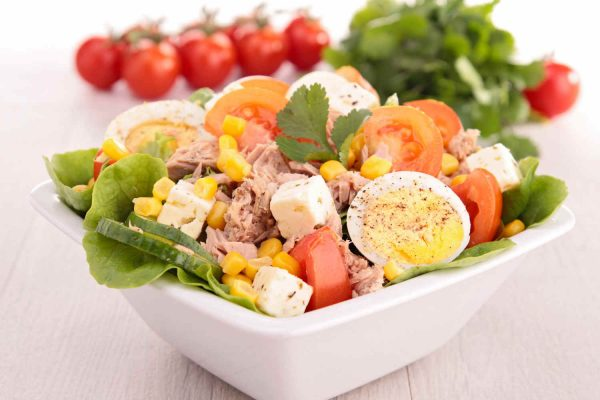 Tuna, Egg & Corn Salad