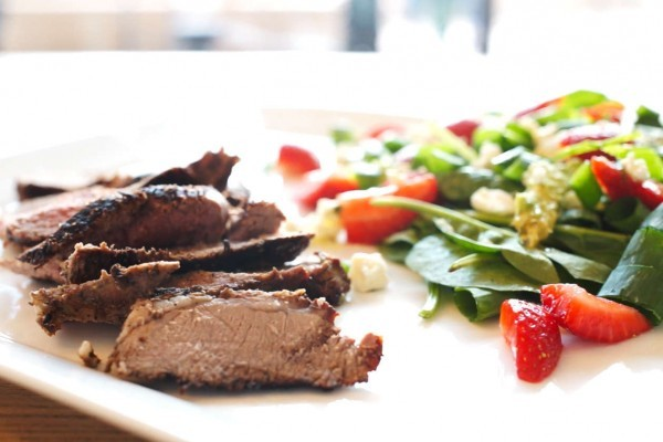 Butterflied Lamb with Strawberry Salad